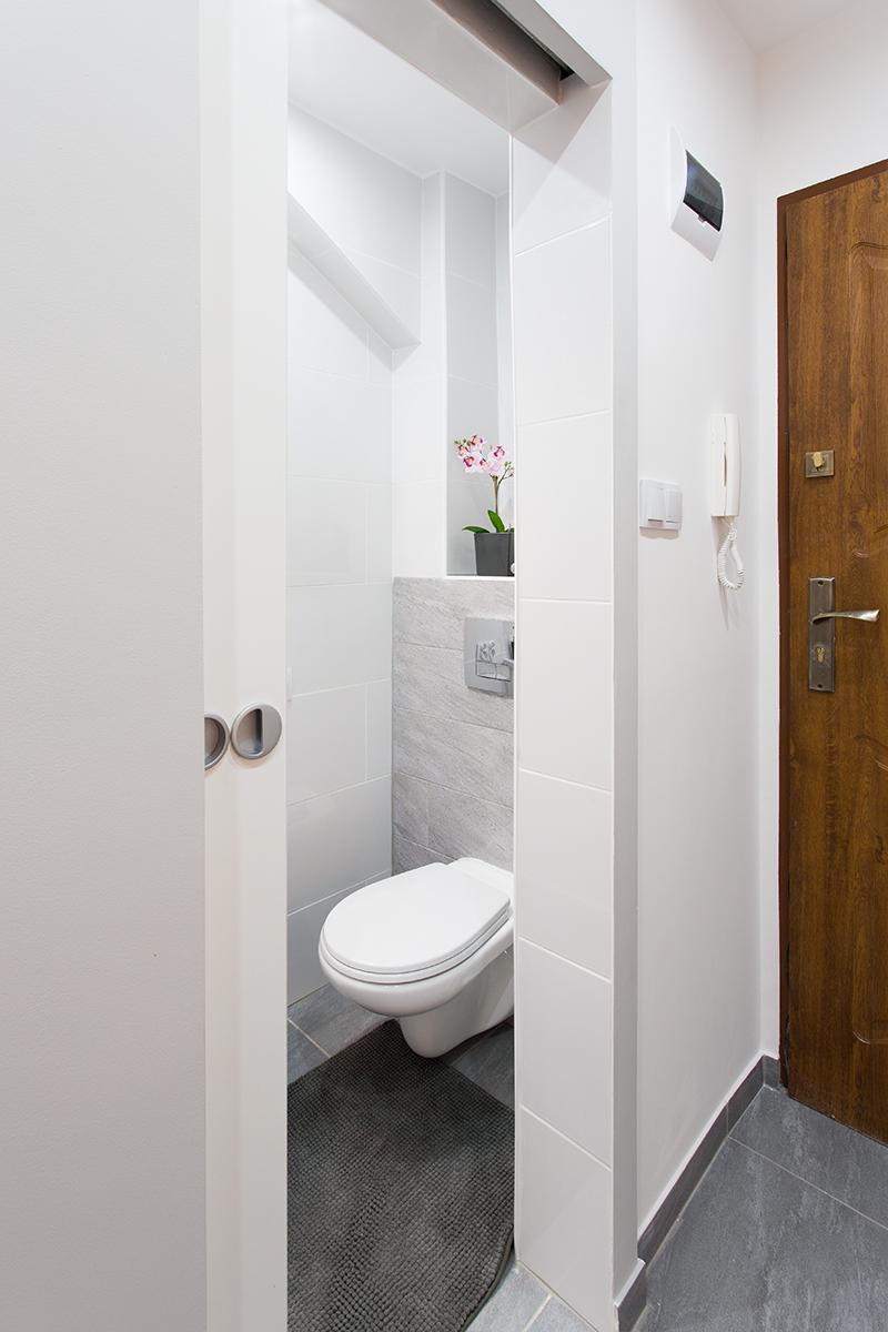 Wejście do łazienki